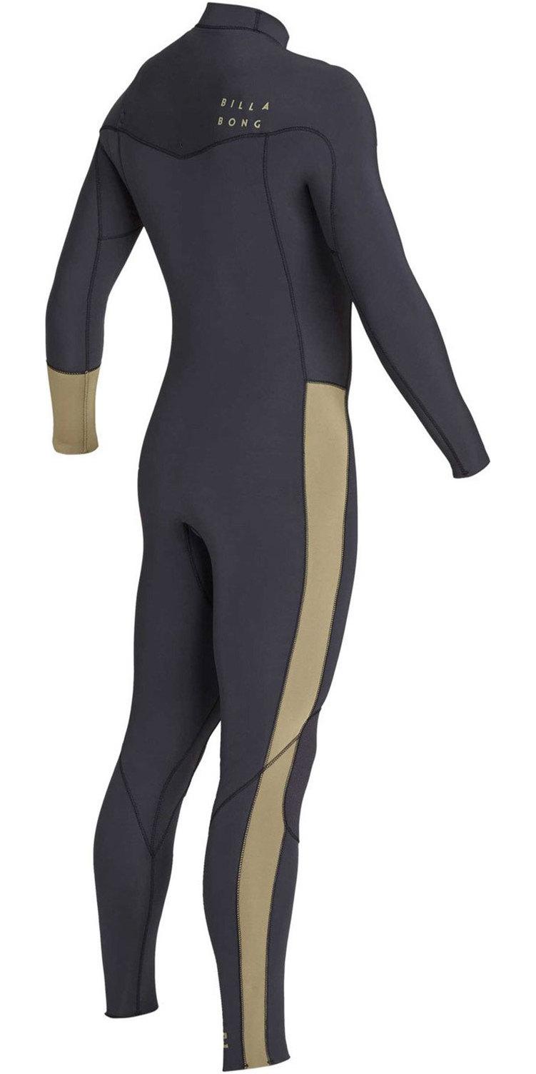 2019 Billabong Mens 4/3mm Furnace Revolution Chest Zip Wetsuit Black Sands N44M02