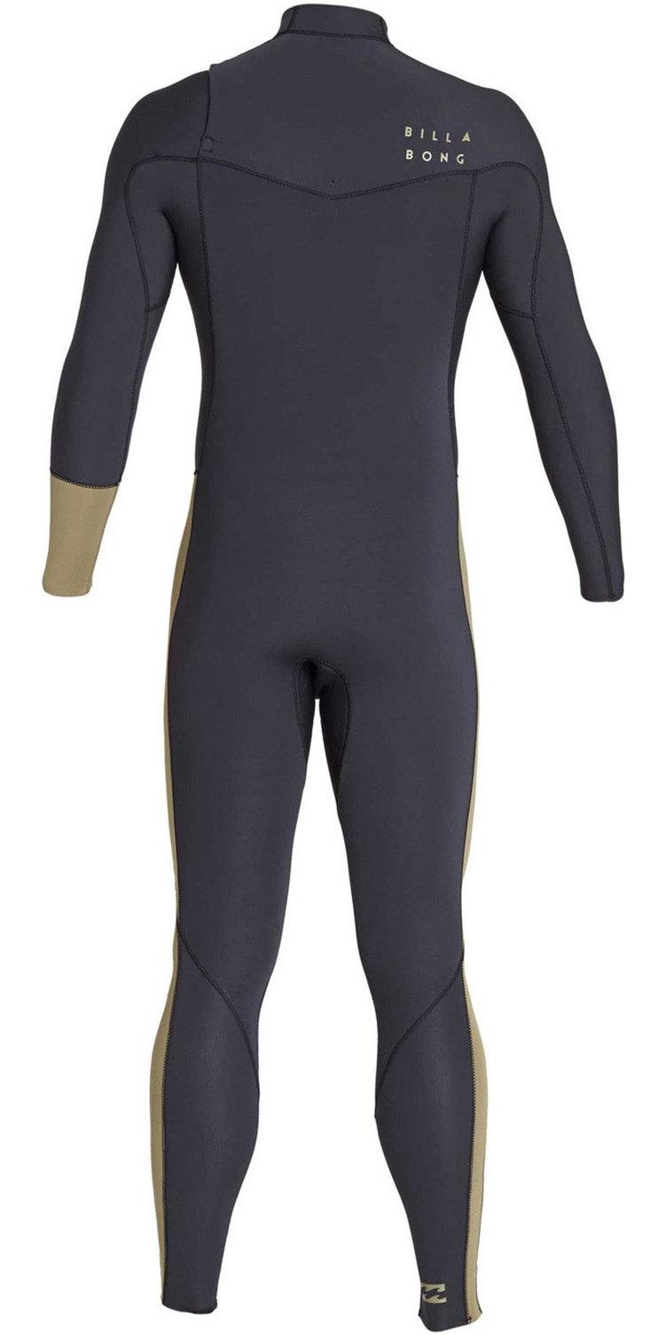 2019 Billabong Mens 3/2mm Furnace Revolution Chest Zip Wetsuit Black Sands N43M04