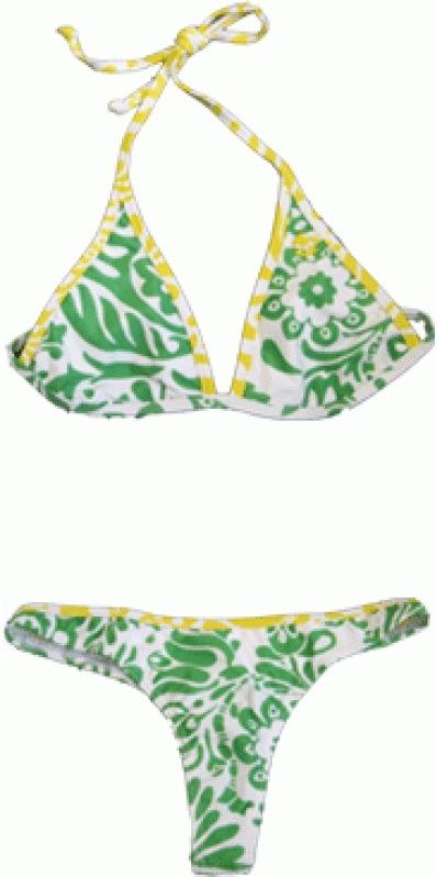 green billabong bikini