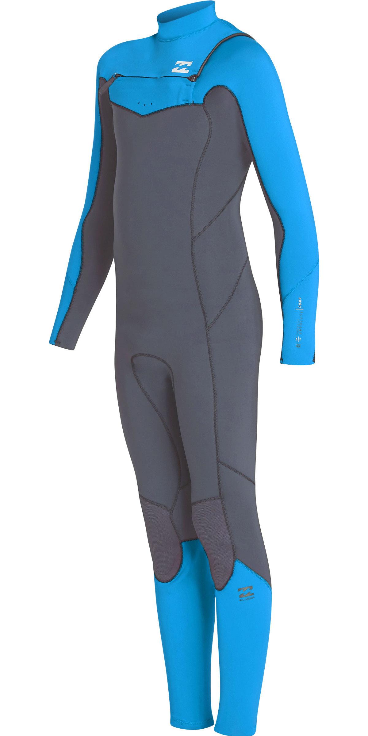 2019 Billabong Junior Boys Furnace Absolute 3/2mm Chest Zip Wetsuit Ash N43B06