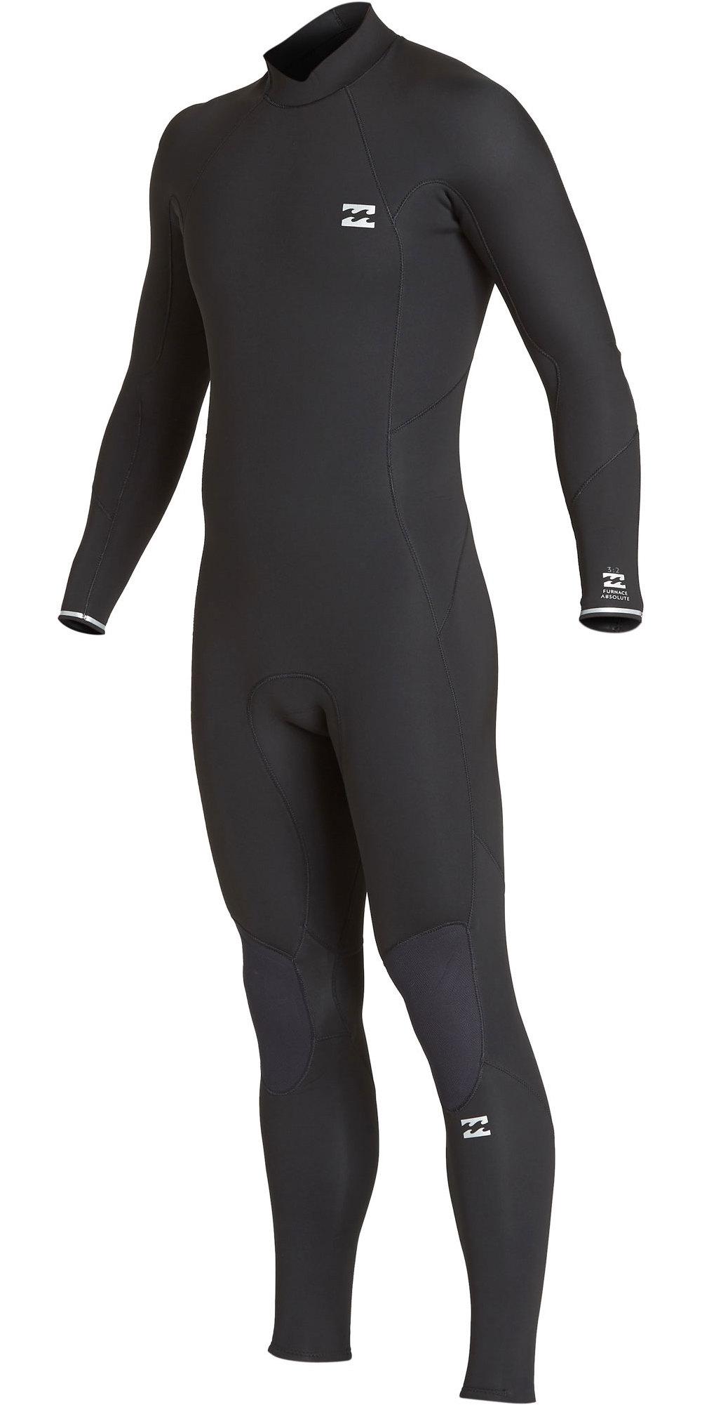 2019 Billabong Junior Furnace Absolute 5/4mm Back Zip Wetsuit Black Q45B03