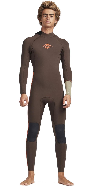 2019 Billabong Mens 3/2mm Furnace Revolution Ninja Zip Wetsuit Olive N43M31
