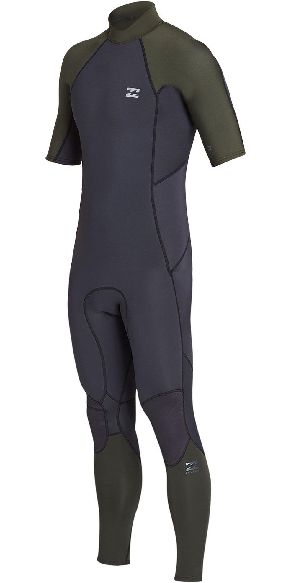 4df210c8a8e8 2019 Billabong Mens 2mm Furnace Absolute Back Zip Short Sleeve Wetsuit Black  Olive N42m29 - | Wetsuit Outlet
