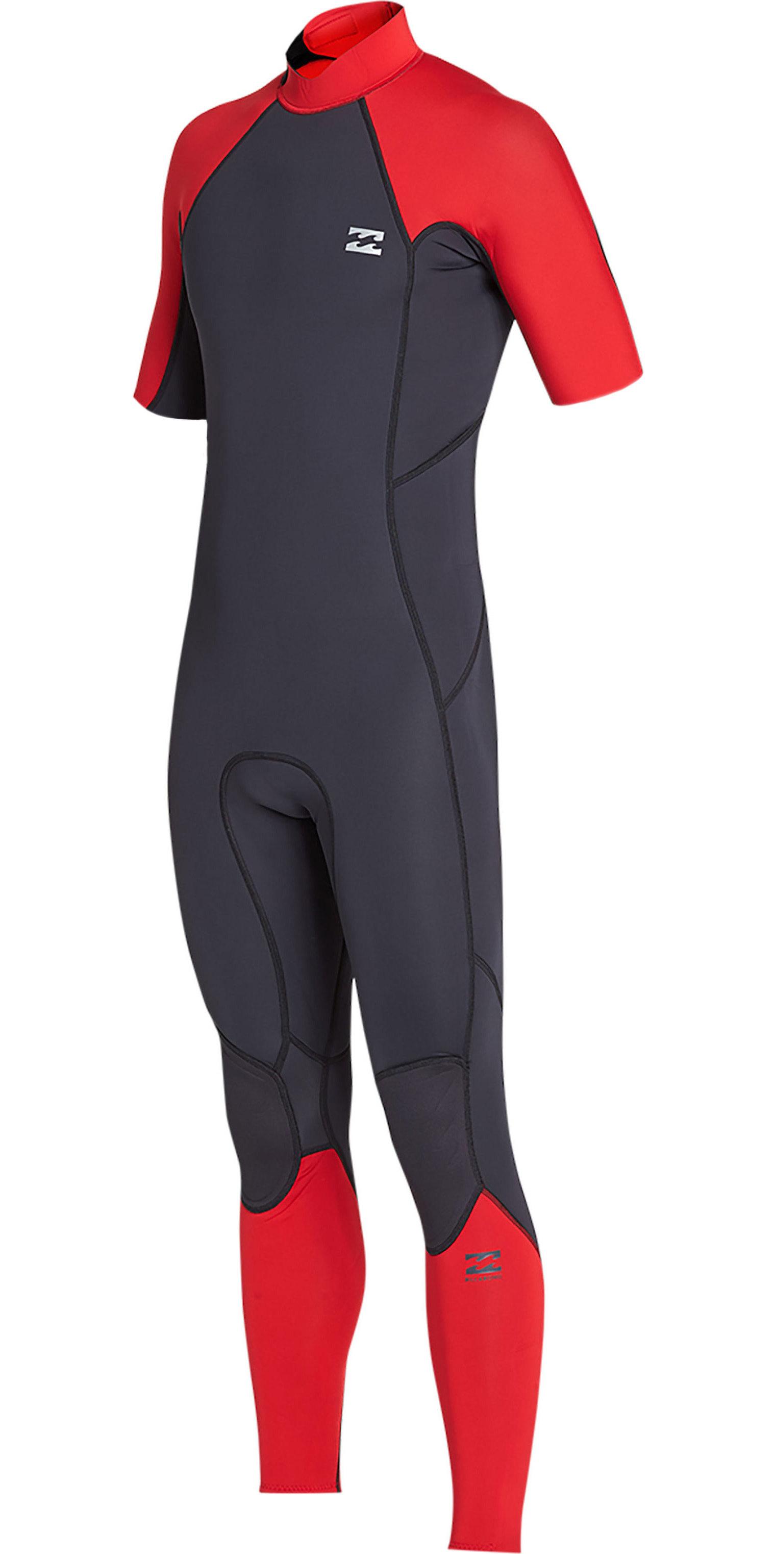 1d63038b9059 2019 Billabong Mens 2mm Furnace Absolute Back Zip Short Sleeve Wetsuit Red  N42m29 - Mens | Wetsuit Outlet