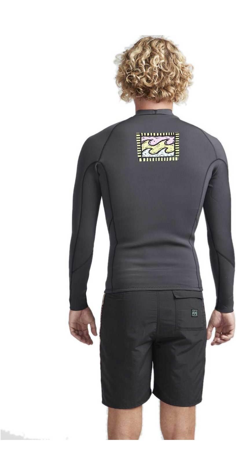 2019 Billabong Mens 2mm Furnace Revolution Reissue Long Sleeve Neo Jacket Black Sands N42M17