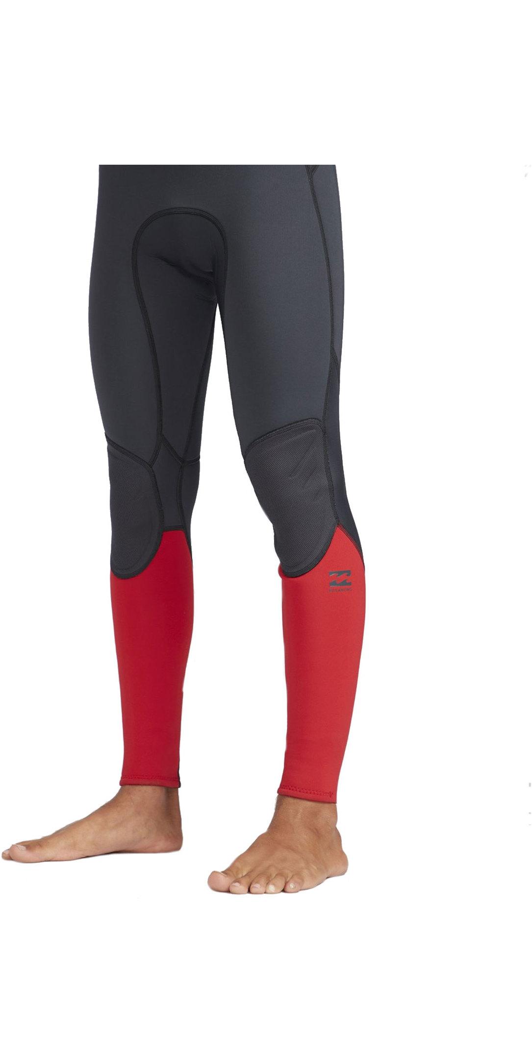 2019 Billabong Mens 3/2mm Absolute Back Zip Flatlock Wetsuit Red N43M33