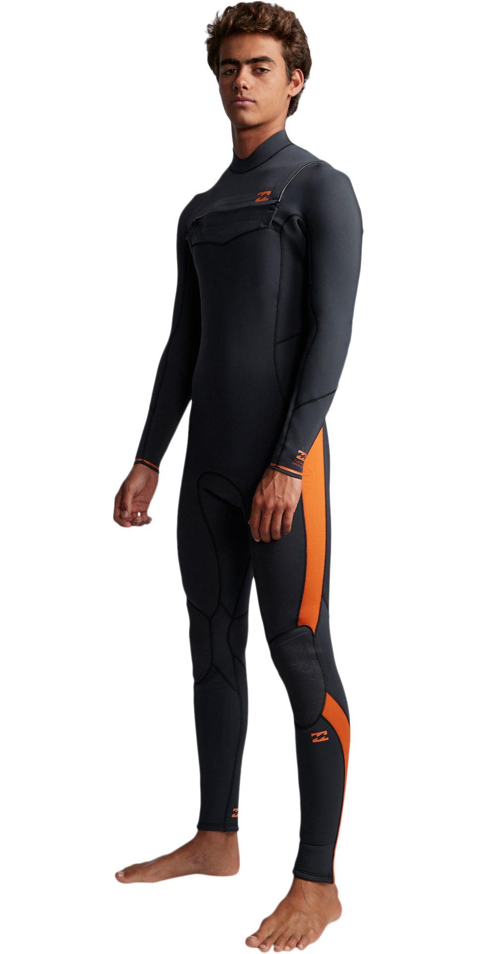 2019 Billabong Mens Furnace Absolute 5/4mm Chest Zip Wetsuit Black Sand Q45M09