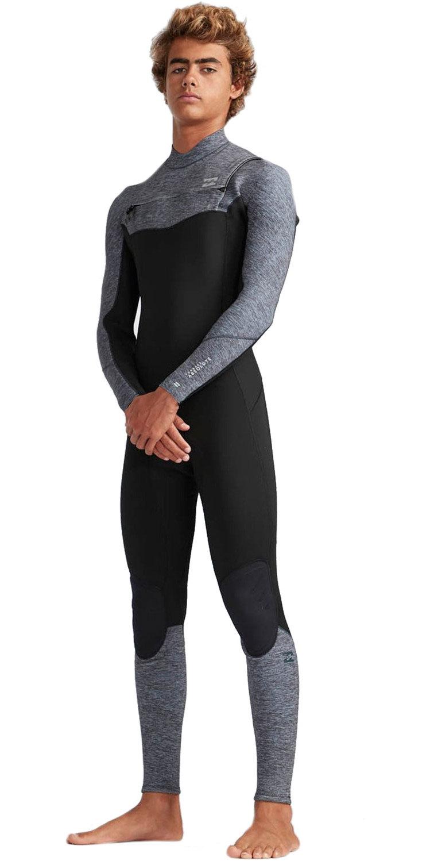 2019 Billabong Mens 3/2mm Furnace Absolute Comp Chest Zip Wetsuit Grey Heather N43M07