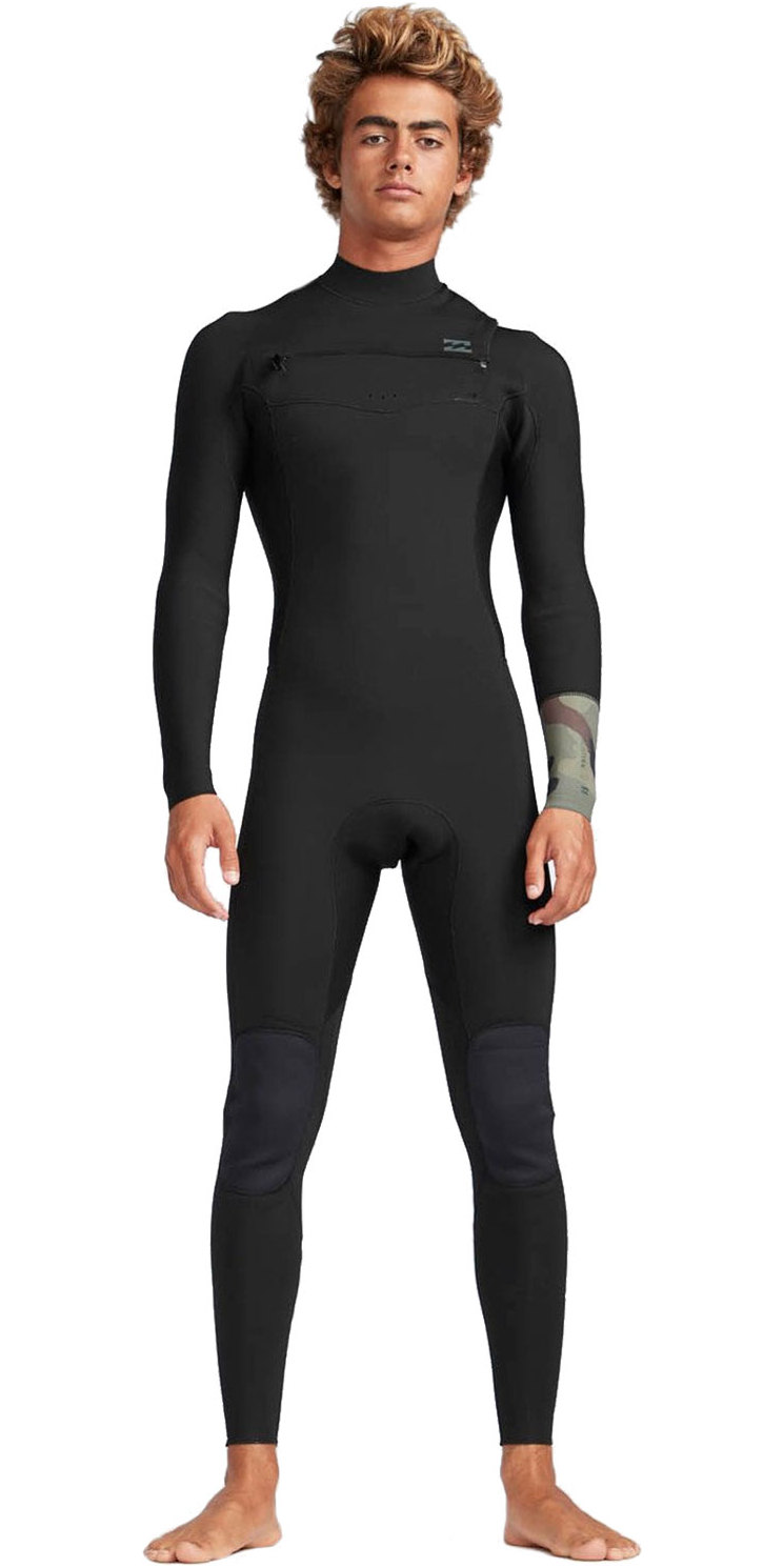 2019 Billabong Mens 3/2mm Furnace Revolution Chest Zip Wetsuit Camo N43M04