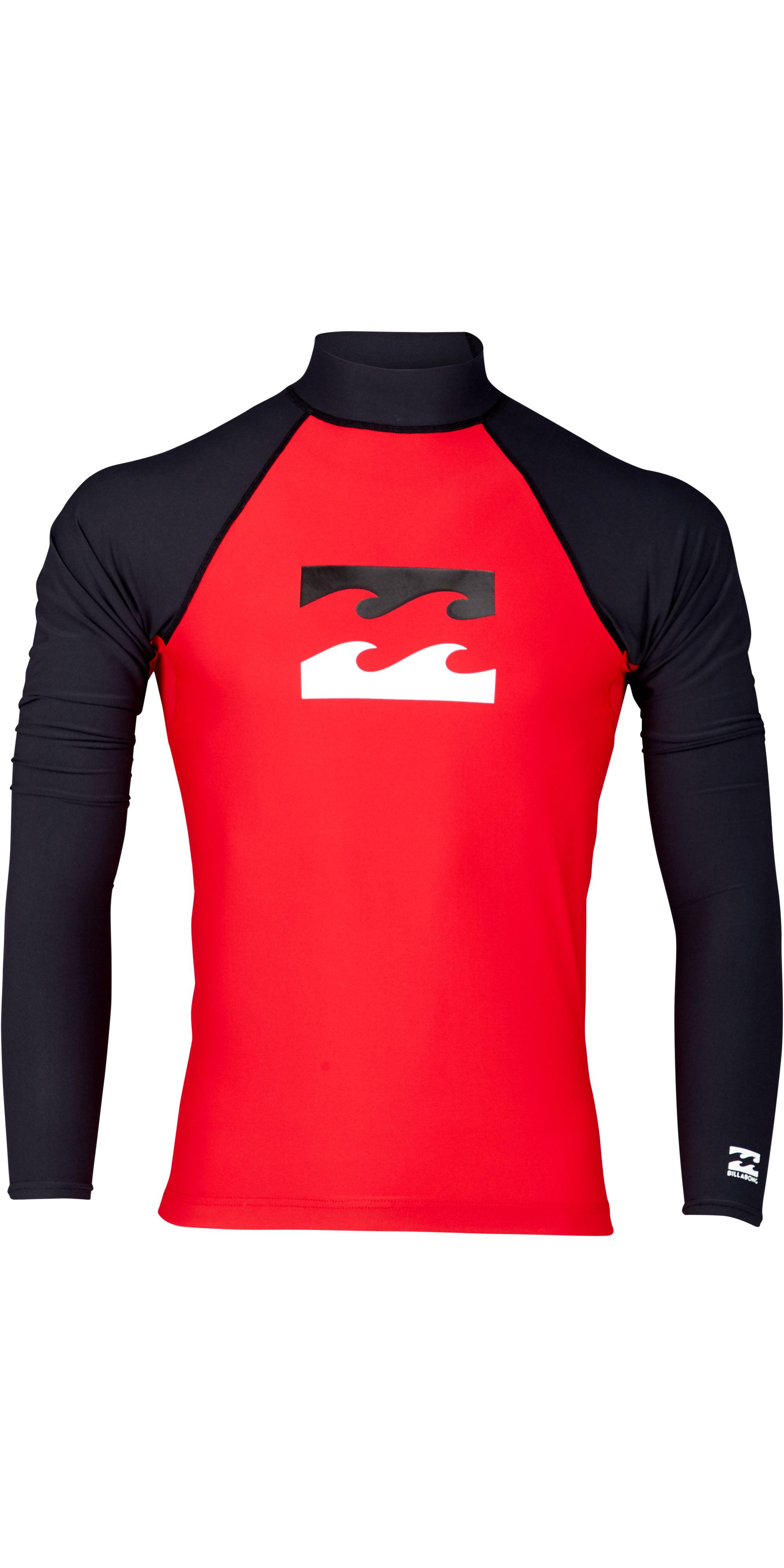 583f46e6 2019 Billabong Mens Team Wave Long Sleeve Rash Vest Red N4my07 - Long Sleeve  Rash Vests | Wetsuit Outlet