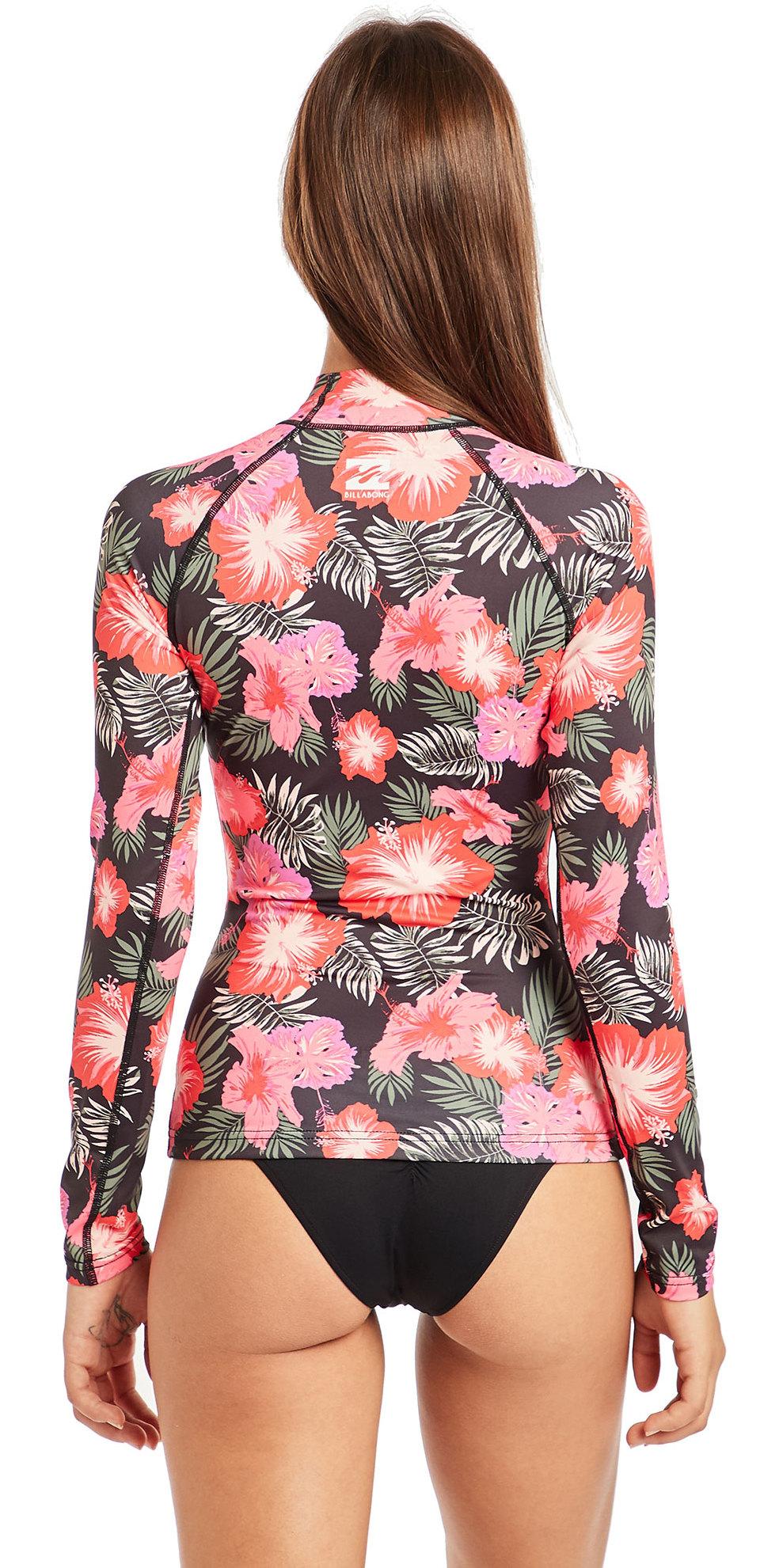 f1ef9840530 2019 Billabong Womens Flower Long Sleeve Rash Vest Hawaii N4GY04 ...