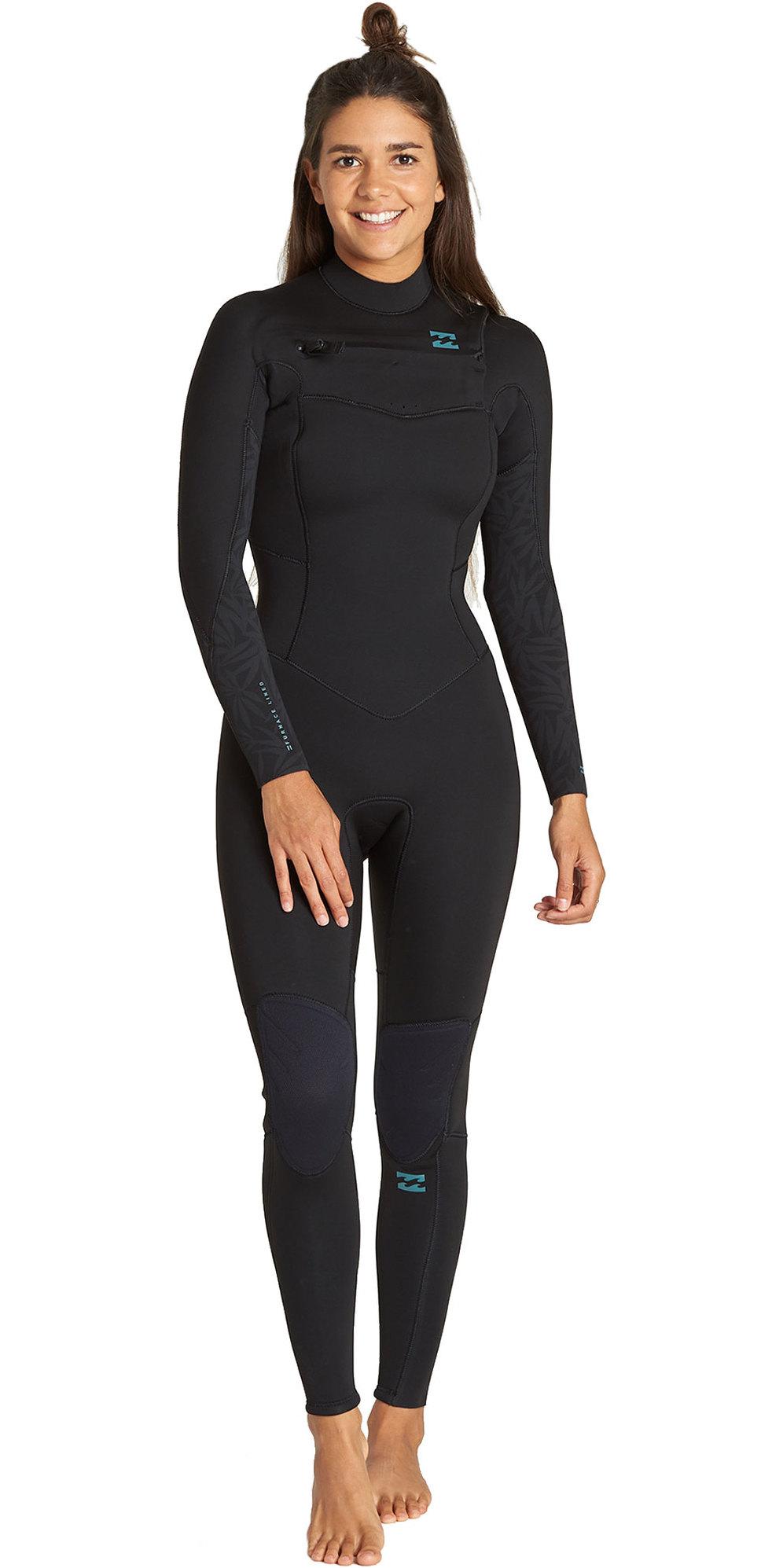 2019 Billabong Womens Furnace Comp 4/3mm Chest Zip Wetsuit Black Q44G31