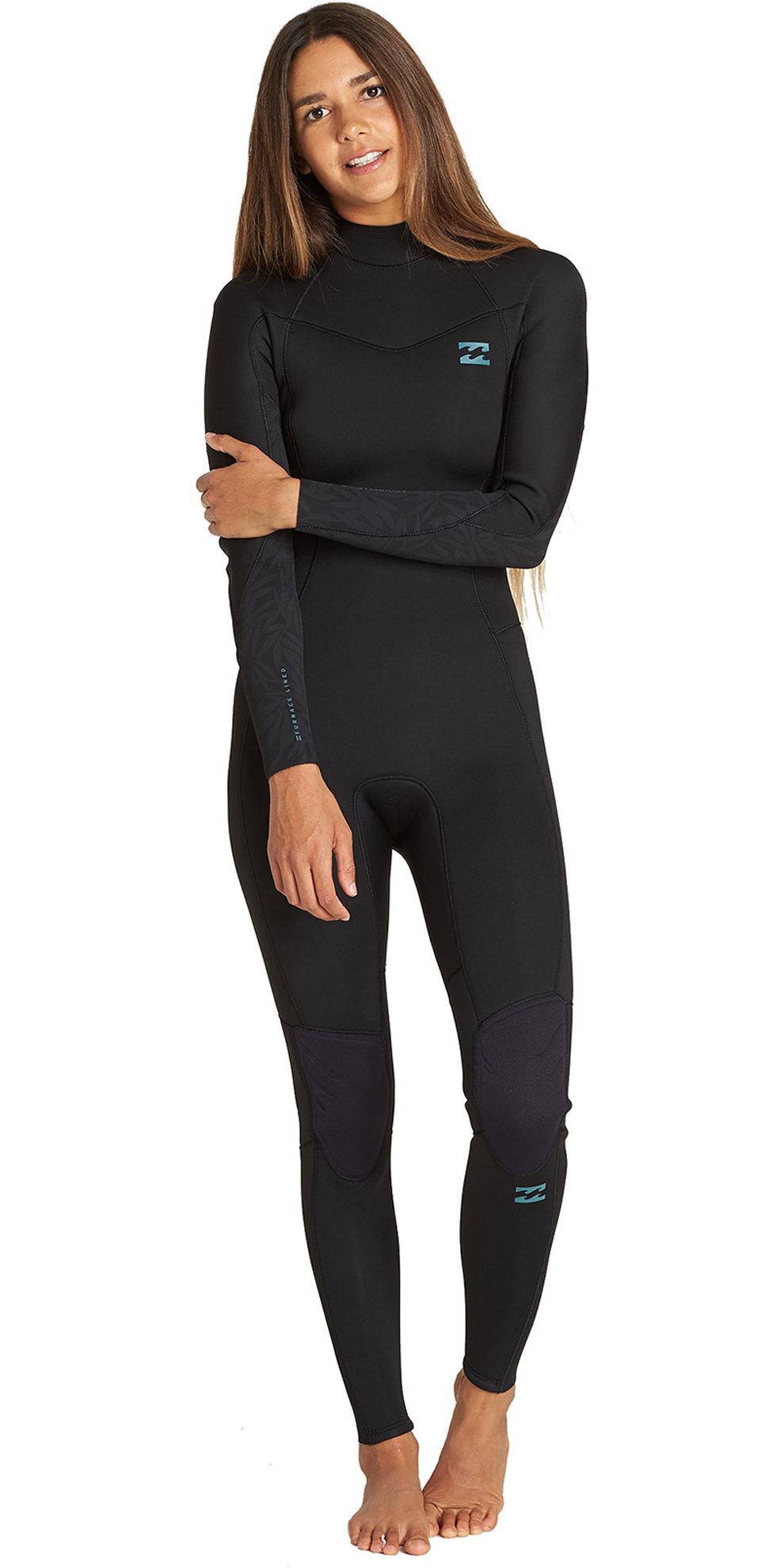 2019 Billabong Womens Furnace Synergy 3/2mm Back Zip Wetsuit Black Q43G04