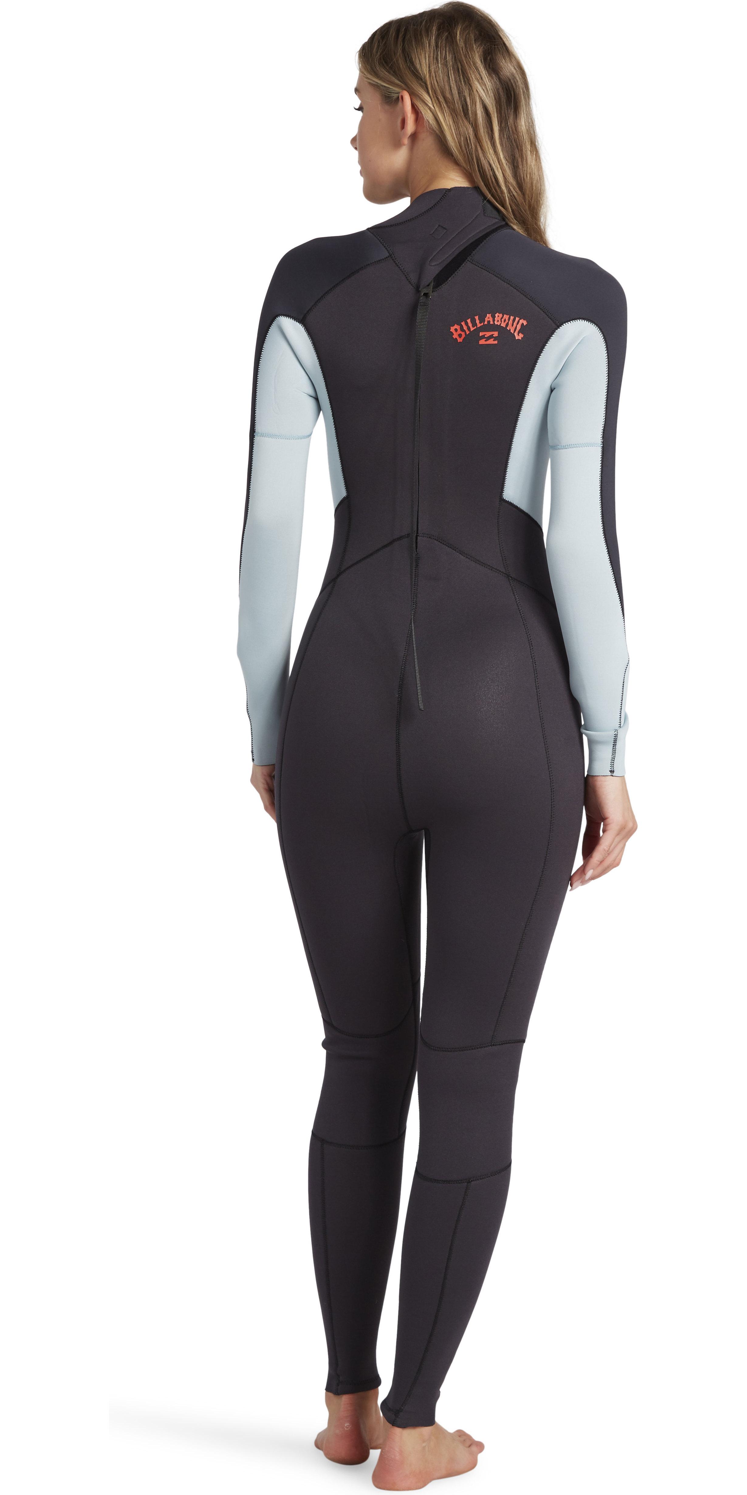 2020 Billabong Womens Launch 4/3mm Back Zip GBS Wetsuit 044G18 - Grey