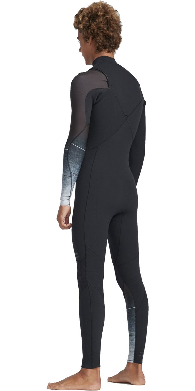 2019 Billabong Mens 2mm Pro Series Chest Zip Wetsuit Black Fade N42M01
