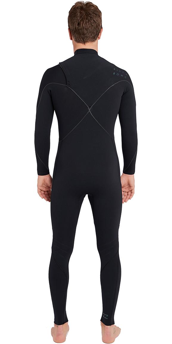 2018 Billabong Furnace Carbon Comp 4/3mm Ziperless Wetsuit Black L44M04