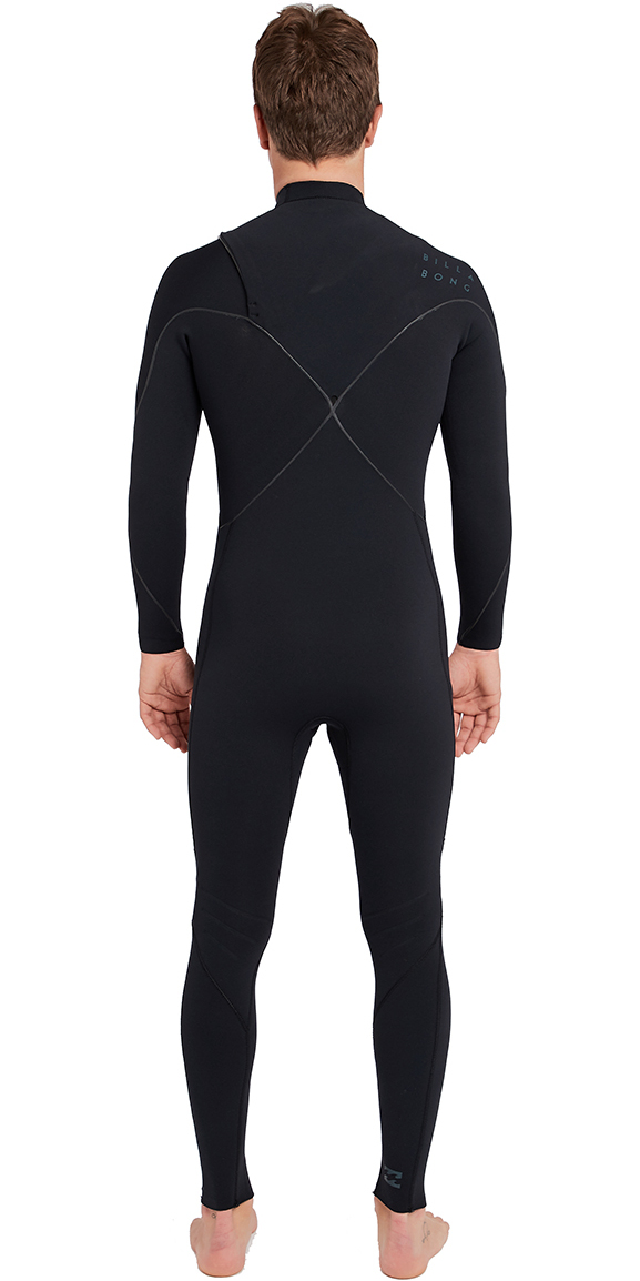 2019 Billabong Mens Furnace Carbon Comp 3/2mm Zipperless Wetsuit Black L43M03