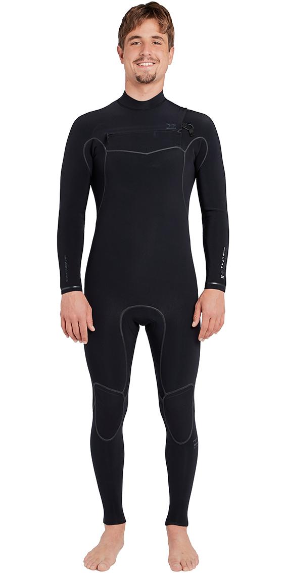 2018 Billabong Furnace Carbon Ultra 3/2mm Chest Zip Wetsuit Black L43M25