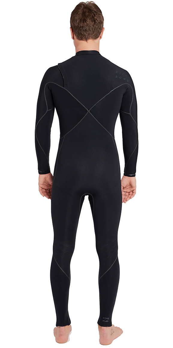 2018 Billabong Furnace Carbon Ultra 4/3mm Chest Zip Wetsuit Black L44M01
