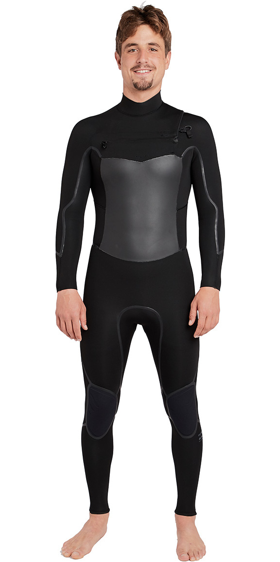 2019 Billabong Furnace Absolute X 3/2mm Chest Zip Wetsuit Black L43M27