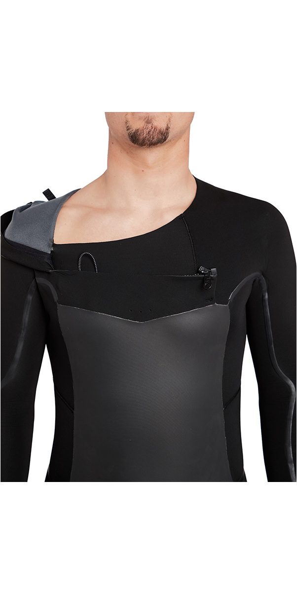 Billabong Furnace Absolute X Hooded 5/4mm Chest Zip Wetsuit Black L45M08