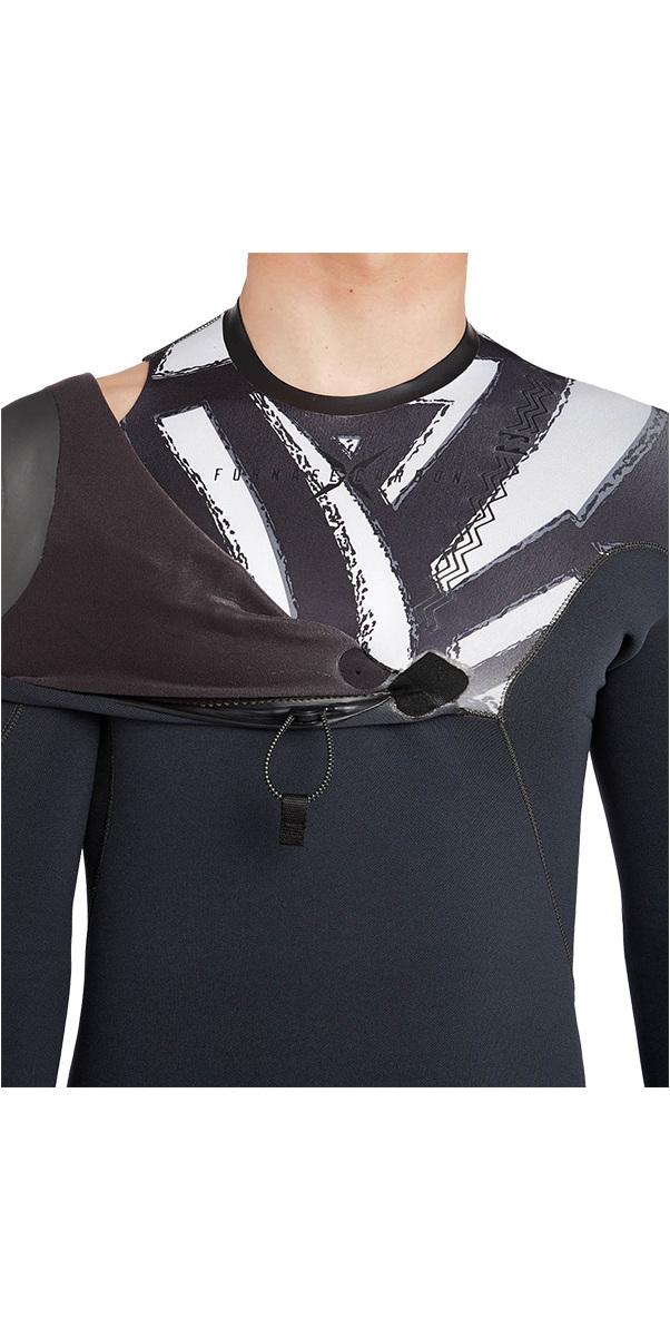 Billabong Furnace Carbon Comp 4/3mm Zipperless Wetsuit Black Print L44M04