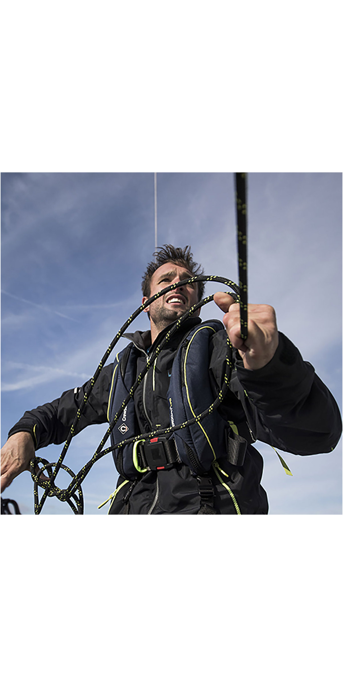 2020 Crewsaver ErgoFit+ 190N Hammar Lifejacket With Harness, Light & Hood Navy 9155NBGHP