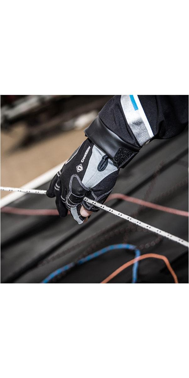 2019 Crewsaver Junior Long Three Finger Gloves Black 6951