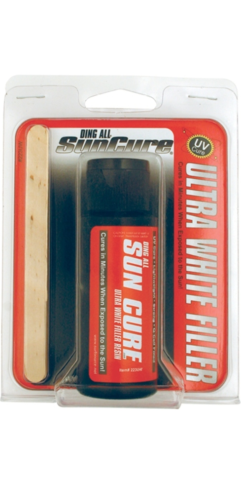 Ding All Repair Kit Sun Cure Ultra White Fiberfill 2oz