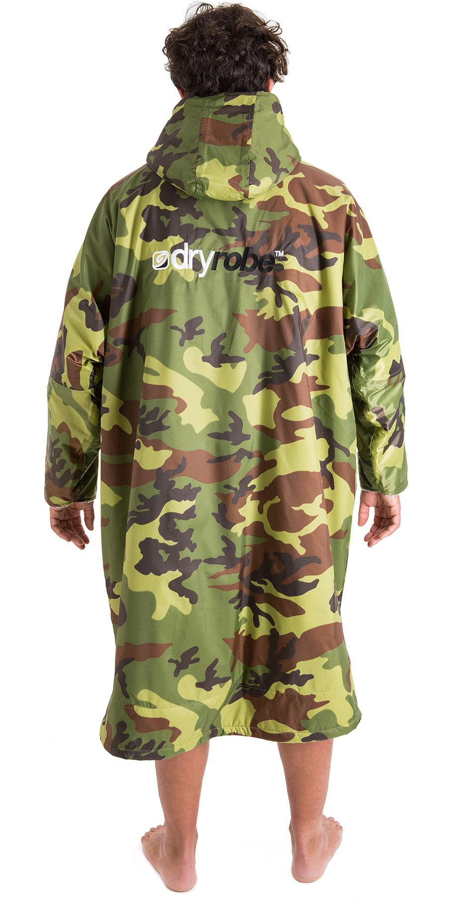 2019 Dryrobe Advance Long Sleeve Premium Outdoor Change Robe / Poncho DR104 Camo / Grey