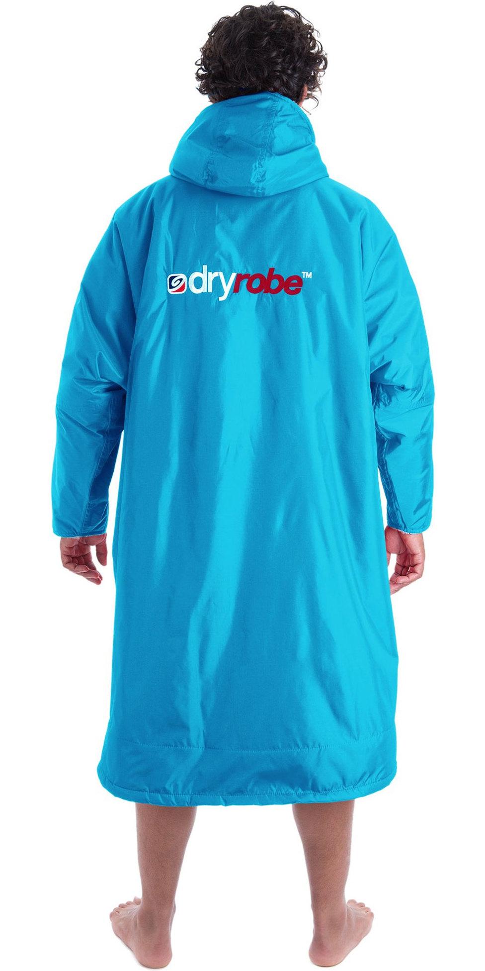 2019 Dryrobe Advance Long Sleeve Premium Outdoor Change Robe / Poncho DR104 SKY / GREY
