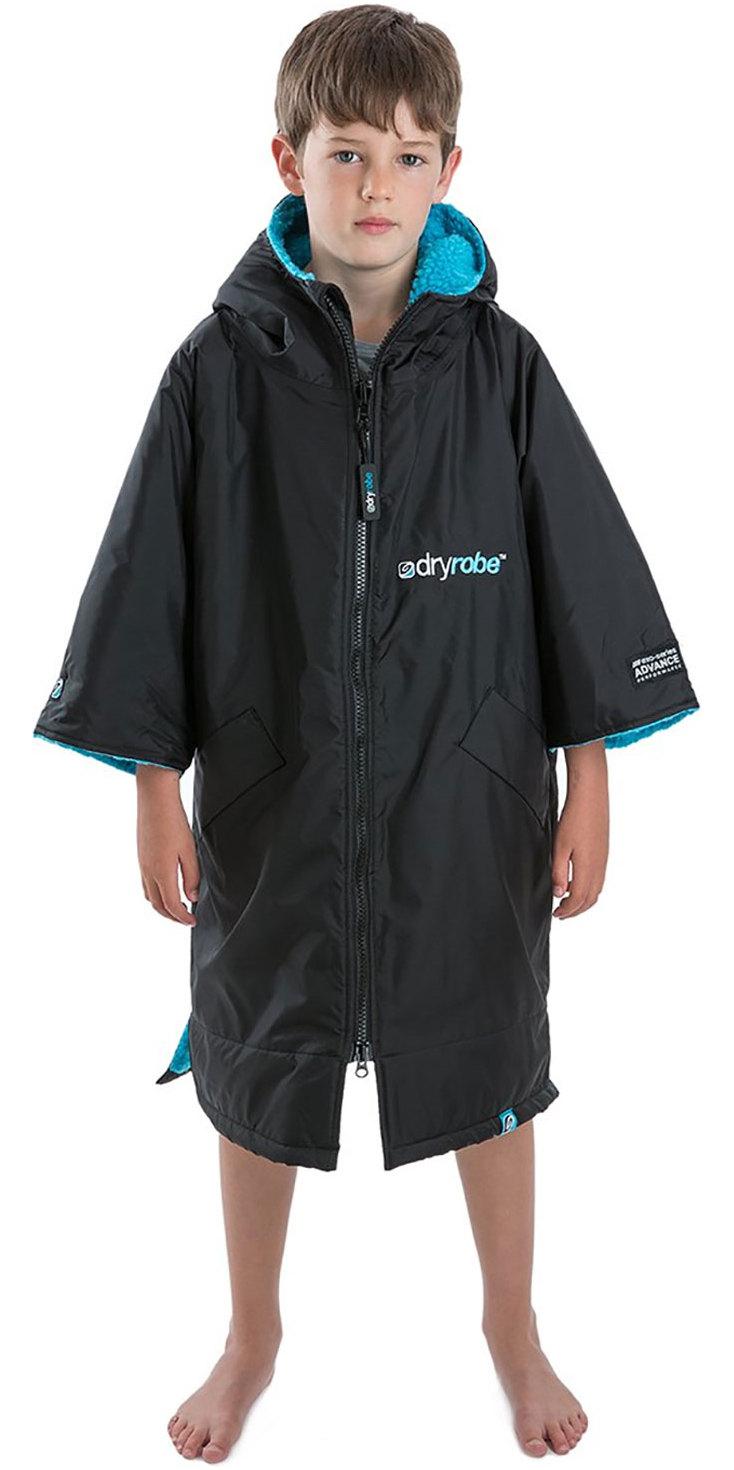 2019 Dryrobe Advance Short Sleeve Premium Outdoor Change Robe / Poncho DR100 Black / Blue