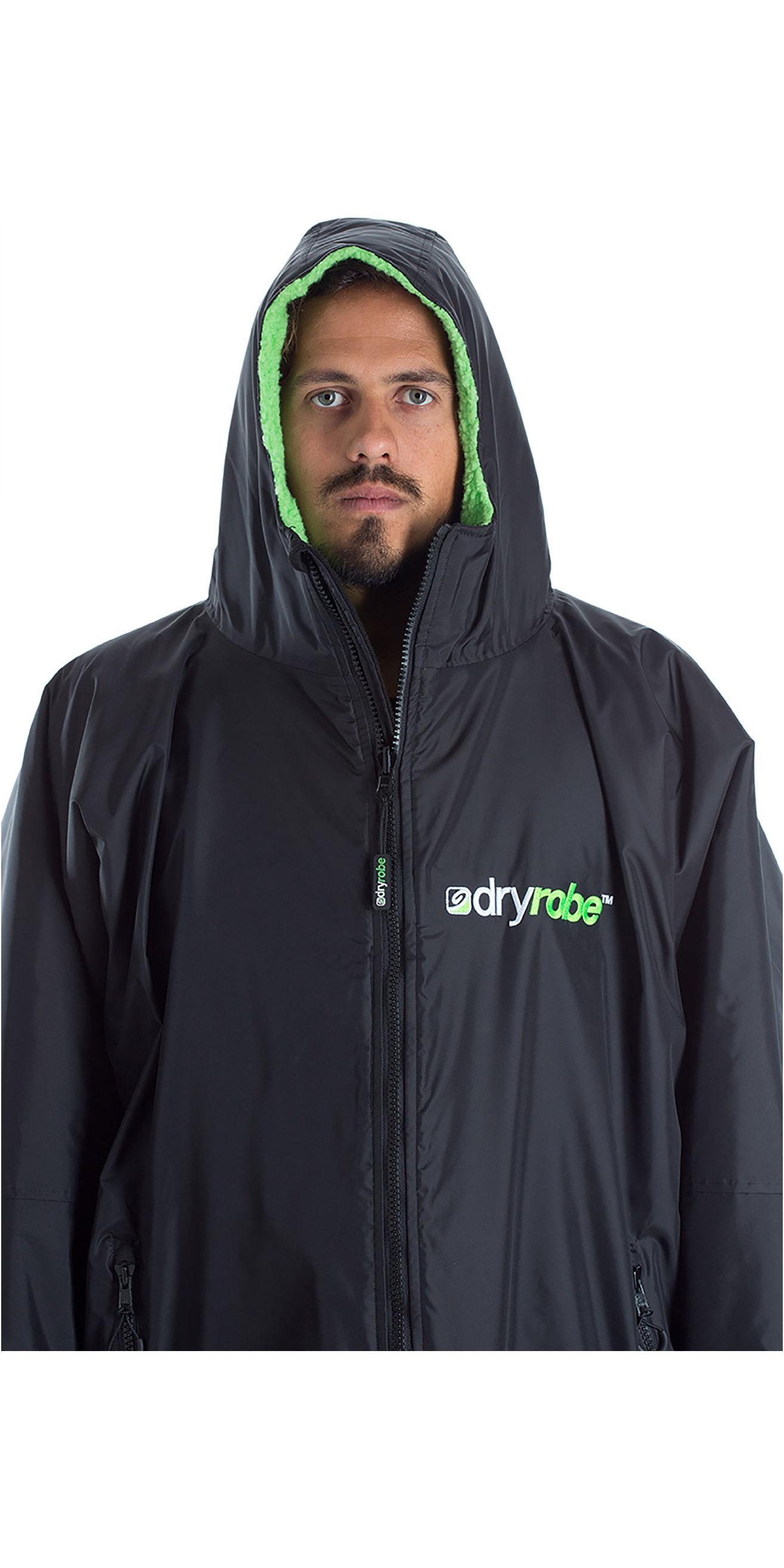 2019 Dryrobe Advance Short Sleeve Premium Outdoor Change Robe / Poncho DR100 Black / Green