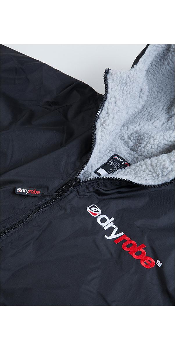 2019 Dryrobe Advance Long Sleeve Premium Outdoor Change Robe DR104 Black / Grey