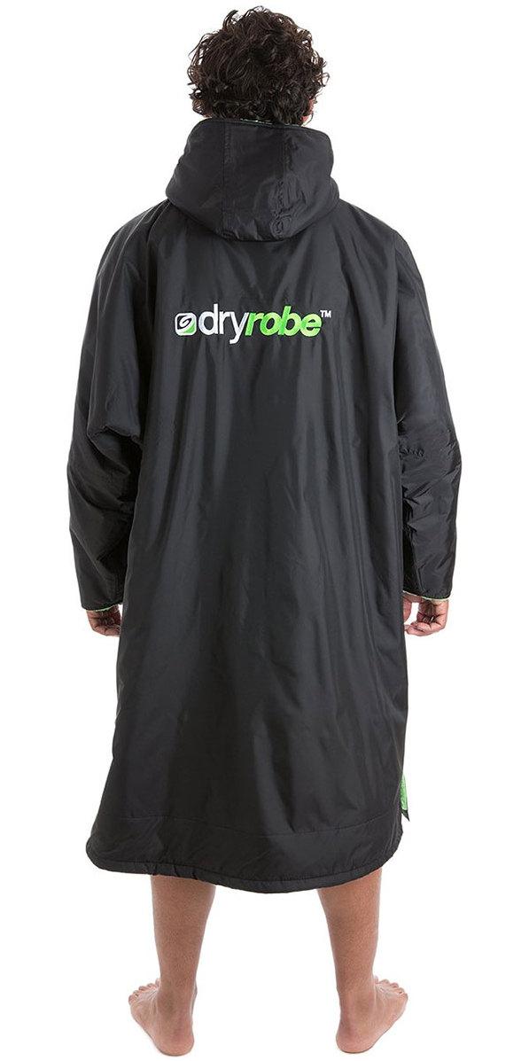 fbc8a1be92 2018 Dryrobe Advance Long Sleeve Premium Outdoor Change Robe DR104 Black    Green ...