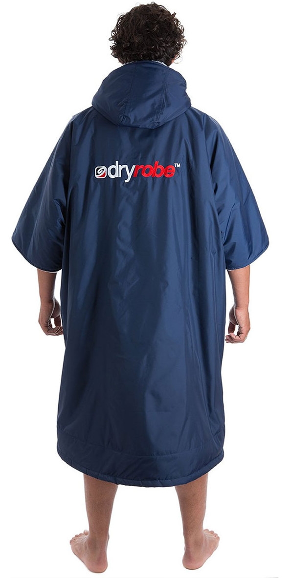 2019 Dryrobe Advance Short Sleeve Premium Outdoor Change Robe DR100 Navy / Grey