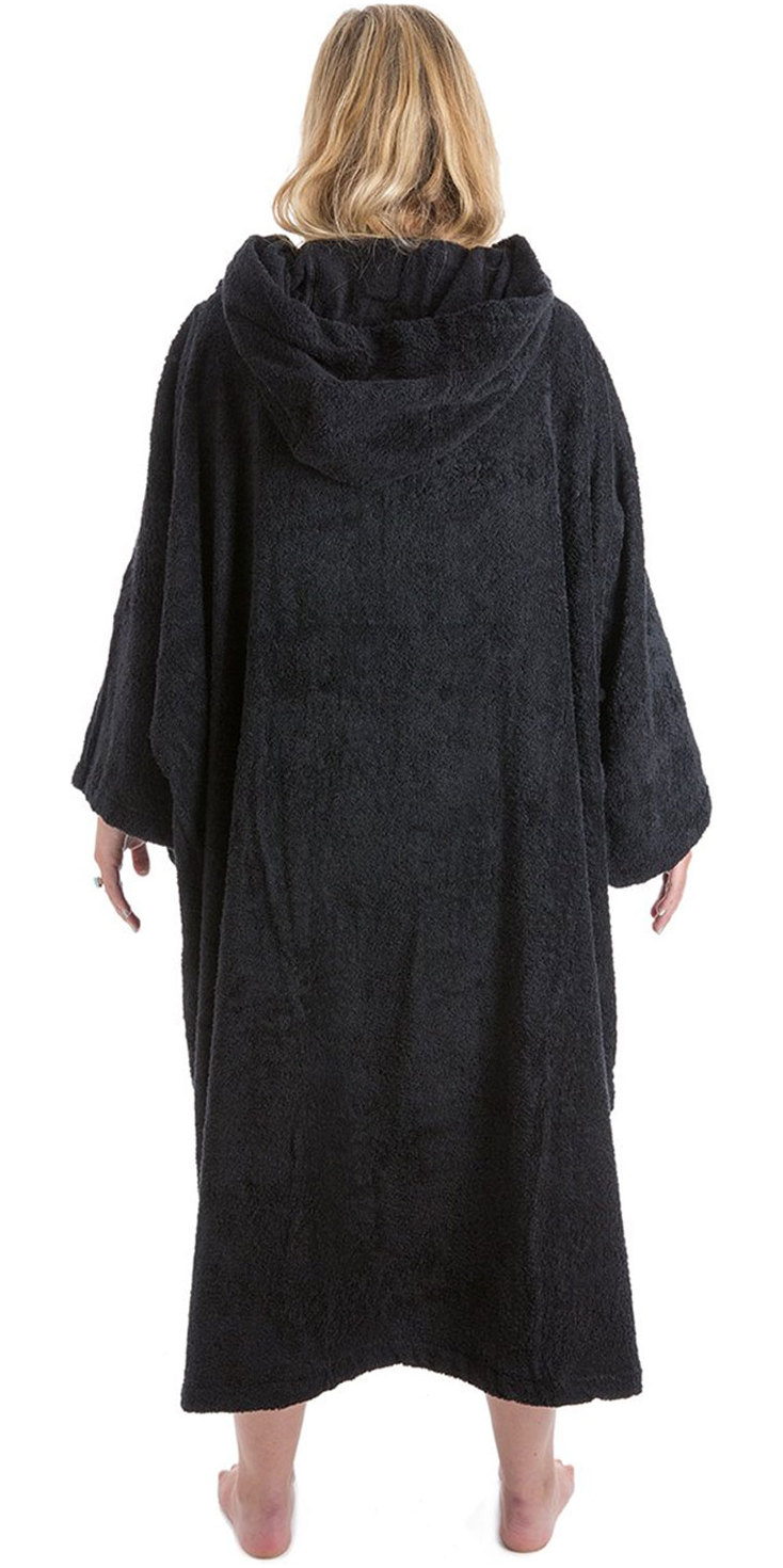 2020 Dryrobe Short Sleeve Towel Change Robe / Poncho SS TD B - Black