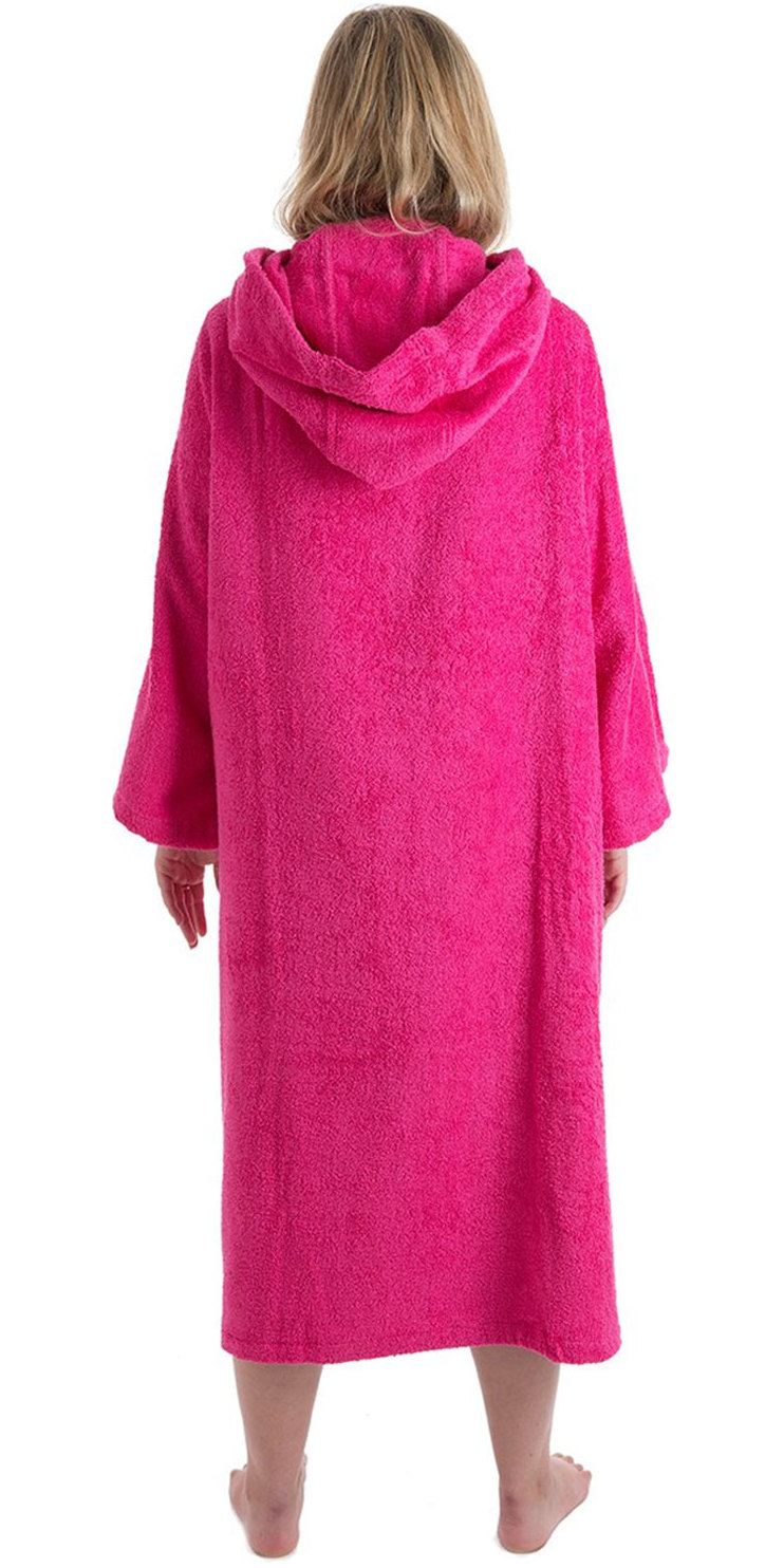 2019 Dryrobe Short Sleeve Towel Change Robe / Poncho Pink