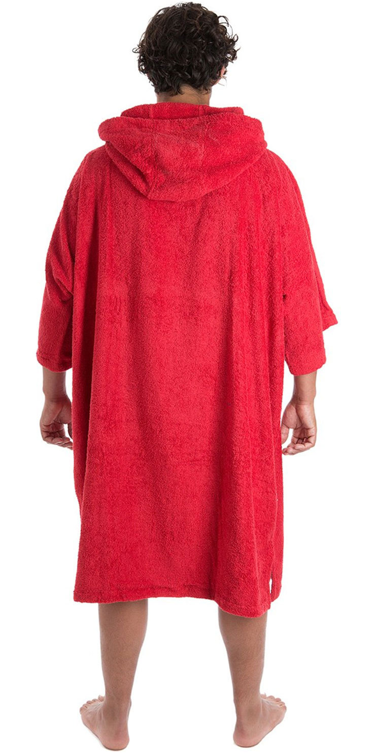 2019 Dryrobe Short Sleeve Towel Change Robe / Poncho Red
