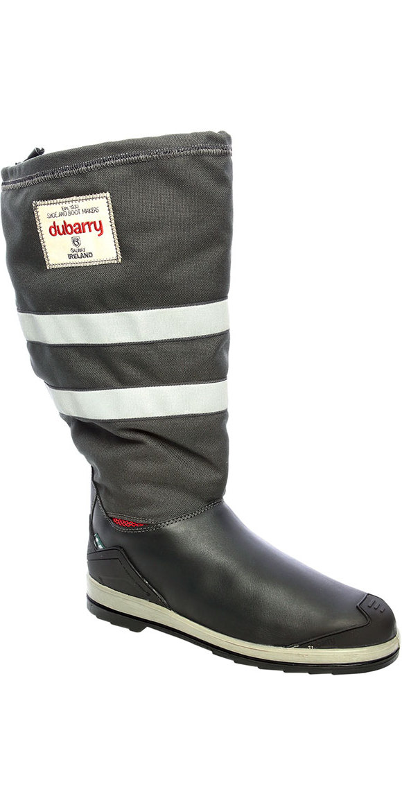 2019 Dubarry Crosshaven Gore-Tex Sailing Boots Navy Leather / Grey Cordura 3963