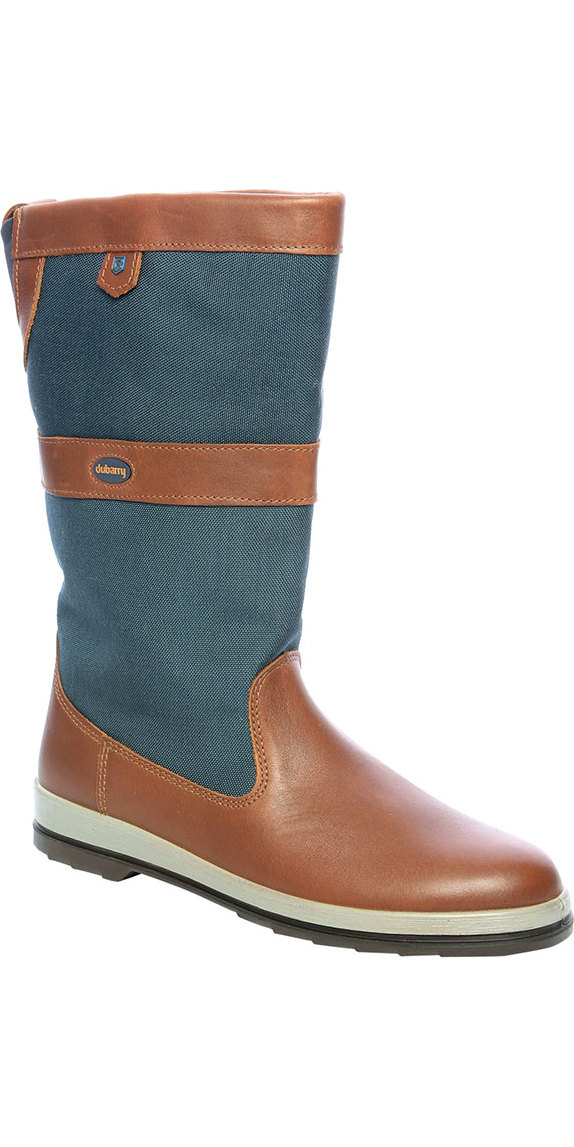 2020 Dubarry Shamrock ExtraFit Gore-Tex Leather Sailing Boots Navy 3745