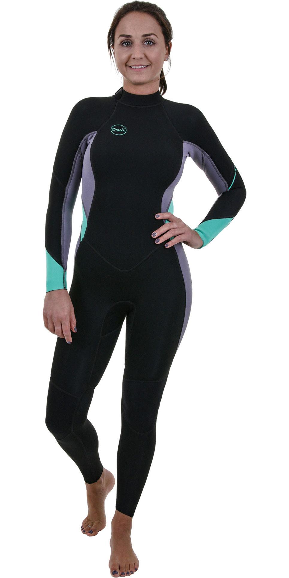 2019 O'Neill Womens Bahia 3/2mm Back Zip Wetsuit Black / Dusk 5292