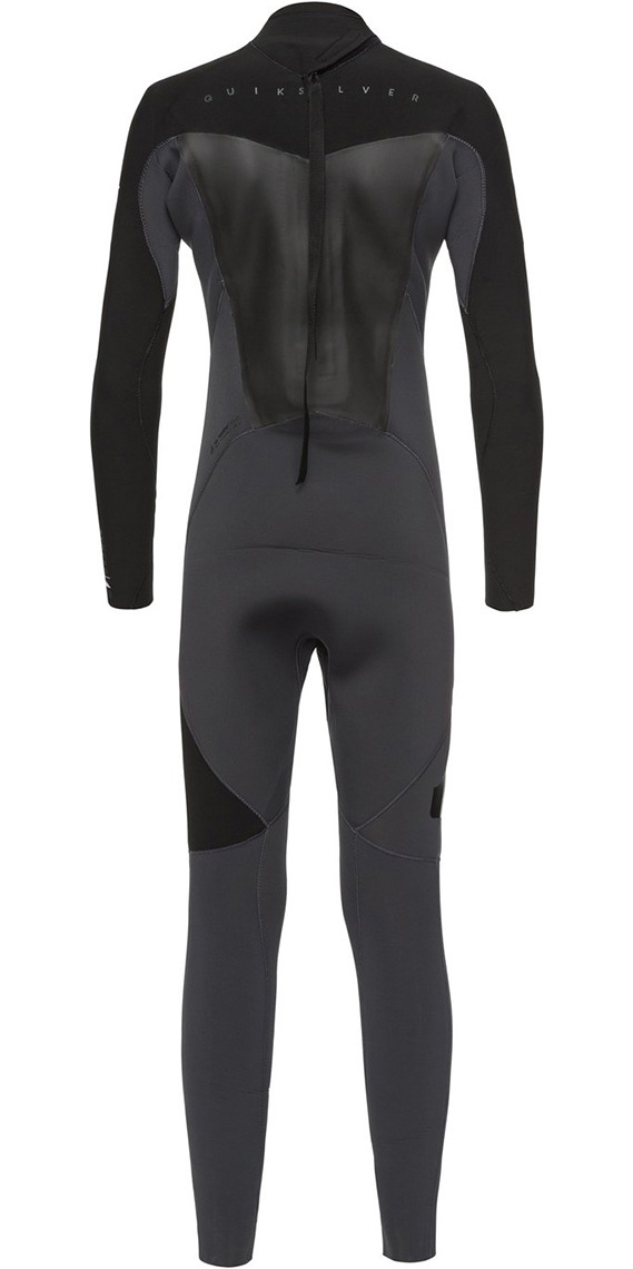 Quiksilver Boys Syncro 3/2mm Back Zip Wetsuit Graphite / Black EQBW103023