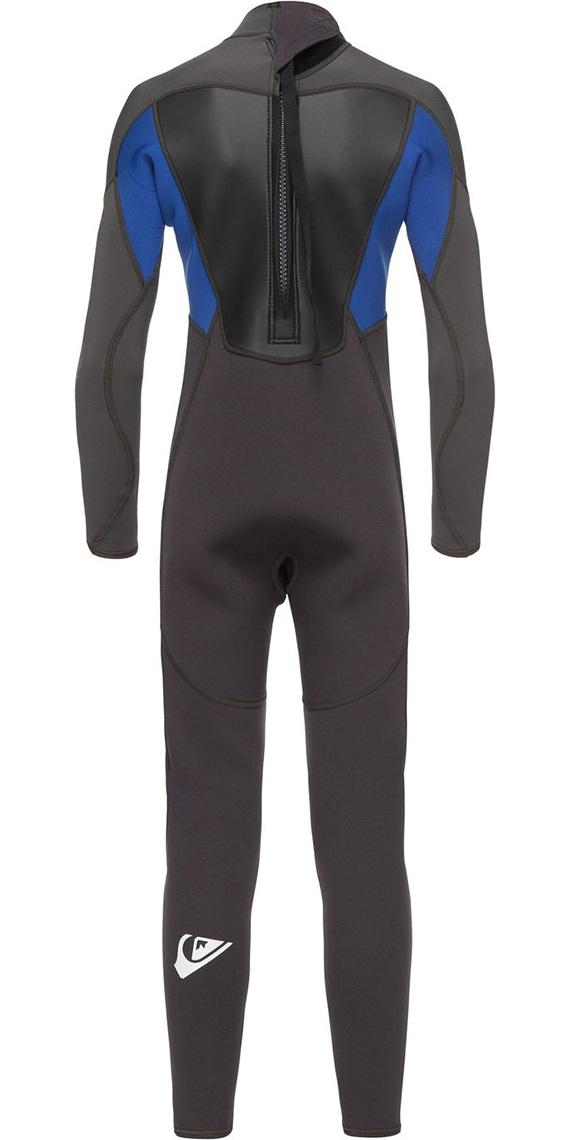 Quiksilver Boys Prologue 3/2mm Back Zip Wetsuit Black / Nite Blue EQBW103039