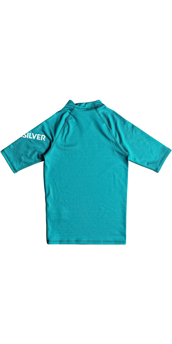 2018 Quiksilver Boys All Time Short Sleeve Rash Vest Typhoon EQBWR03060
