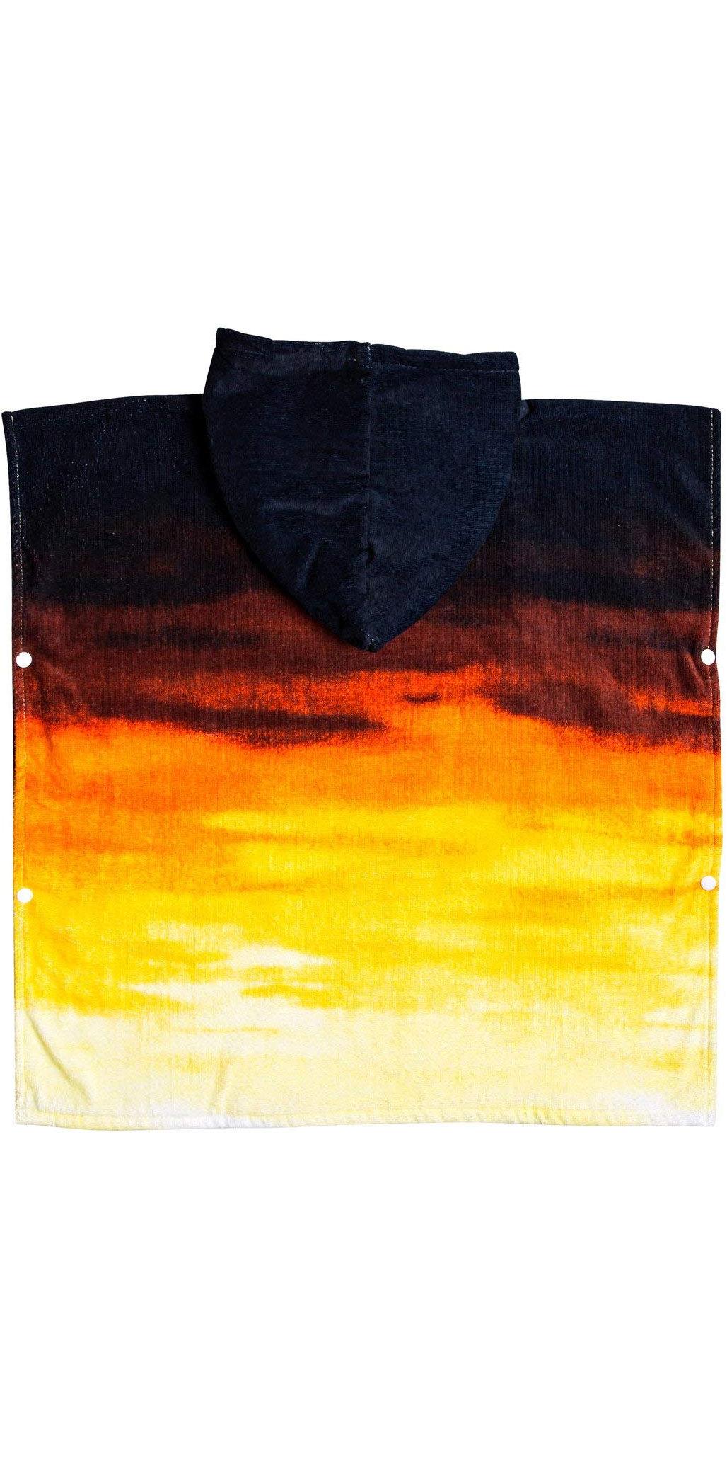 2019 Quiksilver Kids Hoody Towel / Changing Robe Tiger Orange EQKAA03014