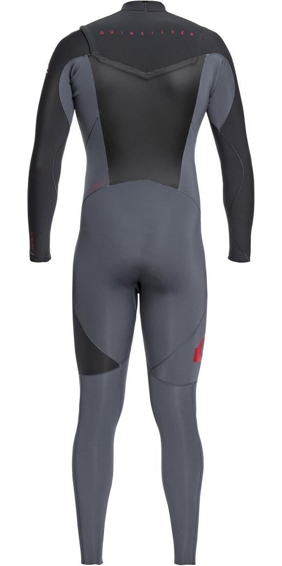 2019 Quiksilver Syncro 3/2mm Chest Zip Wetsuit Ash / Graphite EQYW103038