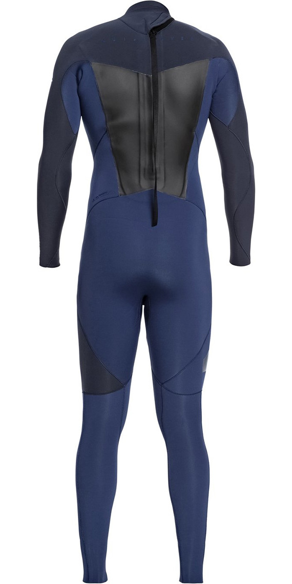 Quiksilver Syncro 4/3mm Back Zip Wetsuit Iodine Blue / Slate EQYW103041