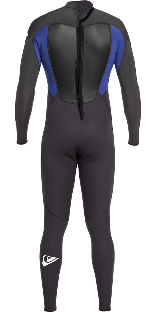 2019 Quiksilver Prologue 3/2mm Back Zip FL Wetsuit Black / Nite Blue EQYW103068