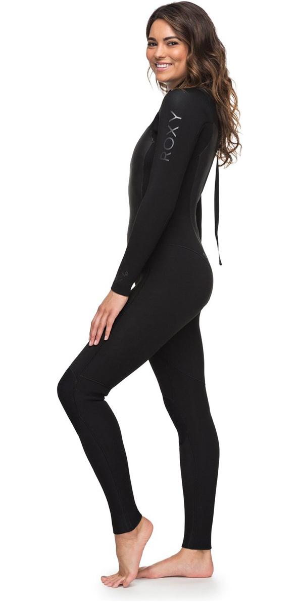 3a8d4e6a45 2018 Roxy Womens Syncro 4 3mm Back Zip Wetsuit Black Erjw103027 ...